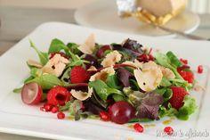 la cocina de aficionado: Ensalada de frutos rojos y foie