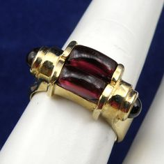 Unique Cabochon Cut Garnet Dinner by diamondmastersuscoin on Etsy, $910.00