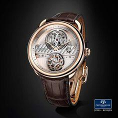 #TiempoPeyrelongue  La doble H, que corona tanto la caja del tourbillon como el puente de barrilete del Arceau Lift, reproduce uno de los motivos emblemáticos de la arquitectura interior de la tienda. El hierro forjado, que a principios del siglo XX despertó gran entusiasmo como elemento decorativo. Hermès / #watchoftheday / #watchmania / #reloj / #dailywatch / #watchfam / #watchnerd / #horology / #watchgeek / #watchaddict / #luxury / #watchcollector / #timepiece