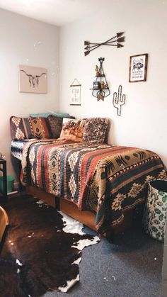 Room Design Bedroom, Room Ideas Bedroom, Home Decor Bedroom, Western Bedroom Decor, Western Rooms, Western Decor, Cowgirl Room, Aesthetic Bedroom, Dream Rooms