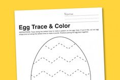 Egg Trace + Color Preschool Worksheet - Paging Supermom April Preschool, Preschool Themes, Easter Activities, Easter Crafts For Kids, Pre K Activities, Preschool Activities, Easter Worksheets, Preschool Worksheets, Easter Tree