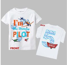 Hey, I found this really awesome Etsy listing at https://www.etsy.com/listing/191024490/planes-birthday-shirt-disney-planes