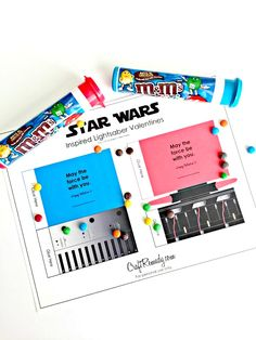 Easy to make Star Wars Saber Valentines. Print, cut and tape and you're done! The perfect kids Valentines!