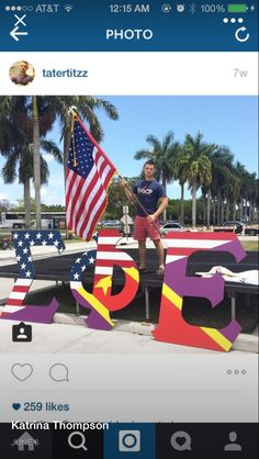 American flag SPE lawn letters sigma phi epsilon sigep