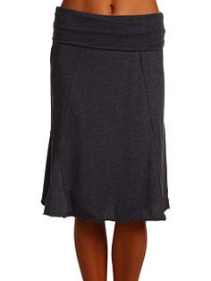 Prana Daphne Skirt (mine is reddish), comfy and casual, cute with flip flops or tights and boots