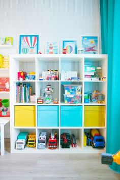 Playroom storage shelving ideas