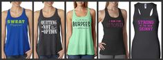 Bundle of 5 Training Racer Back Work Out Tank Tops by AmarisCloset, $125.00