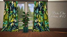 Sims 4 CC's - The Best: Boho Chic Curtains by bluexsims