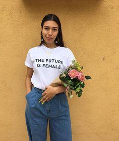 Tumblr - feministische Shirt - inspirierende Shirt - feministischen T-Shirt - die Zukunft ist weiblich Shirt - Mädchen können alles andere Girl Power Shirt