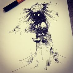 Skullkid - The Legend of Zelda: Majora's Mask - Ink drawing by jovendor