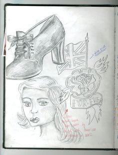 Sketchbook work- 1940's Trends