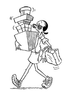 olive oyl with boxes coloring page from popeye the sailor coloring pages more tv series