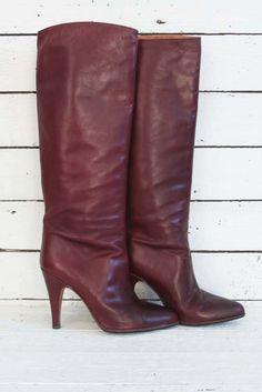 elegante vintage laarzen, mooie staat en kwaliteit! #vintage laarzen #vintageboots #70sboots #70slaarzen www.sugarsugar.nl