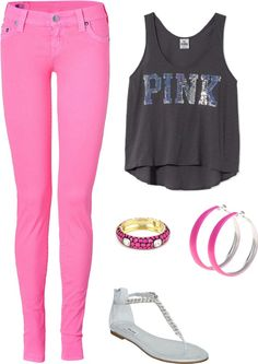 Pink 3, created by babalicious on Polyvore