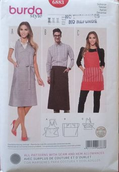 New uncut apron pattern, full and half apron styles. Tree Quilt, Half Apron, Fabric Squares, Rose Cottage, Embroidery Thread, Linen Fabric, Gifts For Friends, My Etsy Shop, Couture