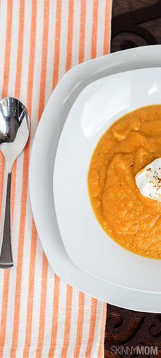 Skinny Butternut Squash Soup  http://www.skinnymom.com/the-supper-club-by-skinny-mom/