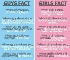 Guys Fact vs Girls Fact