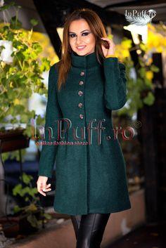 Palton dama verde