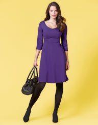 Full Skirt Ponte Dress