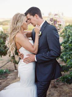 Gorgeous Vineyard Wedding Portraits   Blueberry Photography   http://heyweddinglady.com/sparkling-rustic-glam-vineyard-wedding/