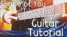 Shape Of You by Ed Sheeran Guitar Tutorial // Guitar Lessons for Beginners! Guitar Lessons For Kids, Guitar Lessons For Beginners, Piano Lessons, Music Guitar, Playing Guitar, Acoustic Guitar, Ukulele, Ed Sheeran Guitar, Guitar Tutorial
