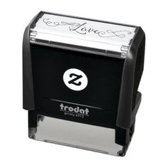 Swirly Calligraphy Love Self-inking Stamp - calligraphy gifts custom personalize diy create your own