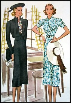 https://flic.kr/p/4hRqmD | Vintage 1938 McCall Pattern Book | These vintage sewing patterns and images are from my personal collection. Please feel free to use them for Inspiration, for design reference, in your art etc., but please don't use them in collage sheets to sell or any other commercial purposes. Grazia Milla