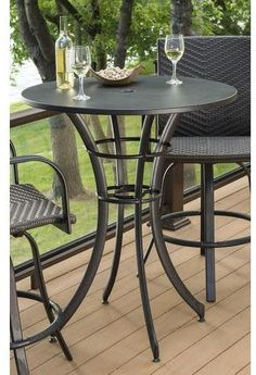 Tall Table and Chair for Kitchen. Tall Table and Chair for Kitchen. Tall Kitchen Table with Stools Mahogany In Keepitmovin S Outdoor Pub Table, Outdoor Bar Height Table, Bistro Table Set, Round Pub Table, Balcony Table And Chairs, Outdoor Tables And Chairs, Pub Table Sets, Patio Table, Patio Chairs