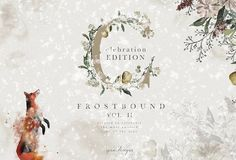 Frostbound Festive Edition + font by OpiaDesigns on @creativemarket