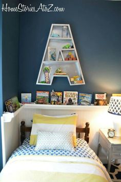 Love this shelf for Al's room!
