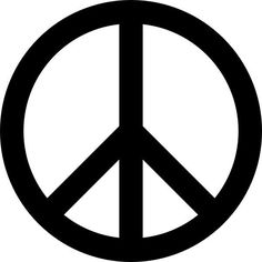 Peace Sign Symbol Die-Cut Decal Car Window Wall Bumper Phone Laptop