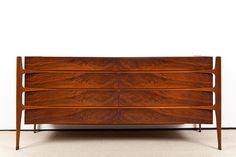 Edmund Spence Curved dresser, 1950-1959 #furniture #edmund_spence 3scandinavian #mid_century_modern