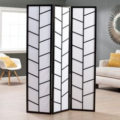 Climbing Branches 3-Panel Screen Room Divider - Black - Room Dividers at Hayneedle