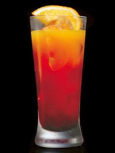 Bonbon of the Vanities    1.7 oz Russian Standard Vodka  .85 oz. banana liqueur  .85 oz. peach liqueur  2.7 oz. orange juice  .33 oz. Grenadine