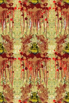 Bloody Empire wallpaper by Timorous Beasties Acid Wallpaper, Empire Wallpaper, Wall Wallpaper, Wallpaper Samples, Textures Patterns, Print Patterns, Timorous Beasties, Street Art, Inspiration Wall