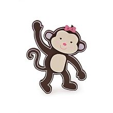 Babies R Us By Design Girl Monkey Wooden Wall Decor