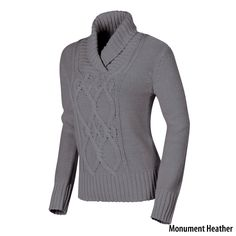 Gander Mountain Womens Shawl Collar Cable-Knit Sweater - Gander Mountain