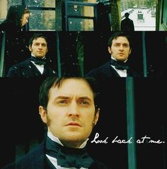 """Look back. Look back at me!"" John Thornton, North and South (BBC, The definitive Richard Armitage performance, from the novel by Elizabeth Gaskell. Richard Armitage, Elizabeth Gaskell, Period Movies, Period Dramas, Jane Austen, North And South, John Thornton, Bbc, Look Back At Me"