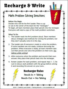 8 Problem Solving Strategies for the Math Classroom | Free math ...