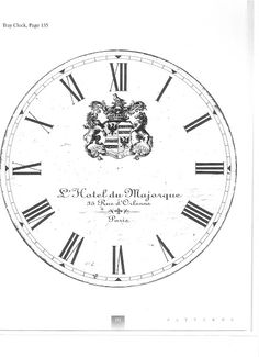 French Clock Face for Image Transfer.  Print in reverse on a laser printer and use Artisan Enhancements Transfer Gel to transfer onto a prepared surface!