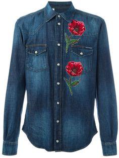 1fc1ab4bfecc0 Dolce   Gabbana Camisa Jeans Com Bordado - Farfetch. Embroidered Denim ShirtDolce    GabbanaLuxury FashionMens ...