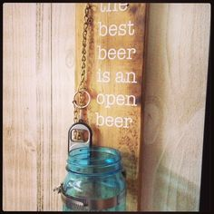 Diy bottle opener for our shop.