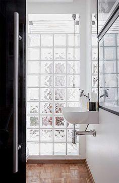 Arqteturas: Tijolo de vidro #decoração
