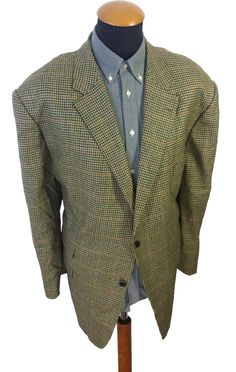 Men's Hugo Boss Wool Cotton Blazer 42L Hemp Suit Jacket Sport Coat ...