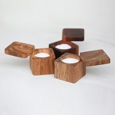 Salt Cellar with Lid, The Wooden Palate #ModernLook #saltandpepper
