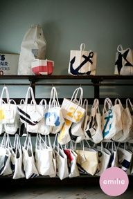 Sea Bags - original totes and bags made from retired sails