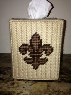 Fleur de Lis Tissue Box Cover Color by HandcraftedHolidays on Etsy, $14.00