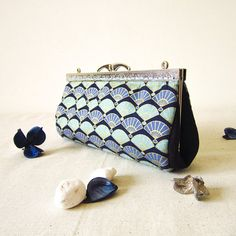 Clutch with chain Unique Evening Purse Toiletry Bag