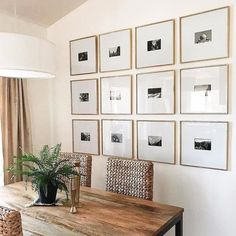 176 amazing entryway wall decor ideas to create memorable first impression – page 35 Gallery Wall Frames, Frames On Wall, Gallery Walls, Frames Decor, Family Pictures On Wall, Entryway Wall Decor, A Frame Cabin, Dining Room Walls, Dining Area