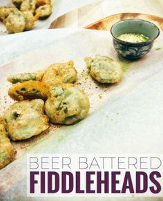 Beer Battered Fiddleheads Recipe